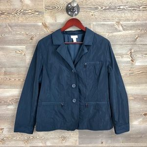 Chicos Navy Blue Button up Jacket
